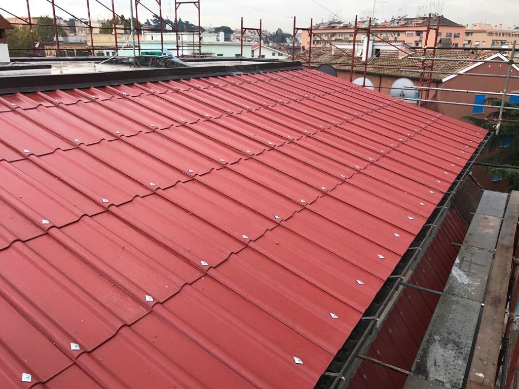 Rimozione tettoia amianto